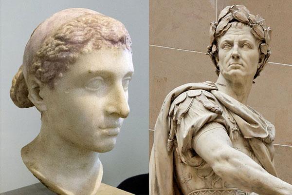 Клеопатра и Юлий Цезарь
